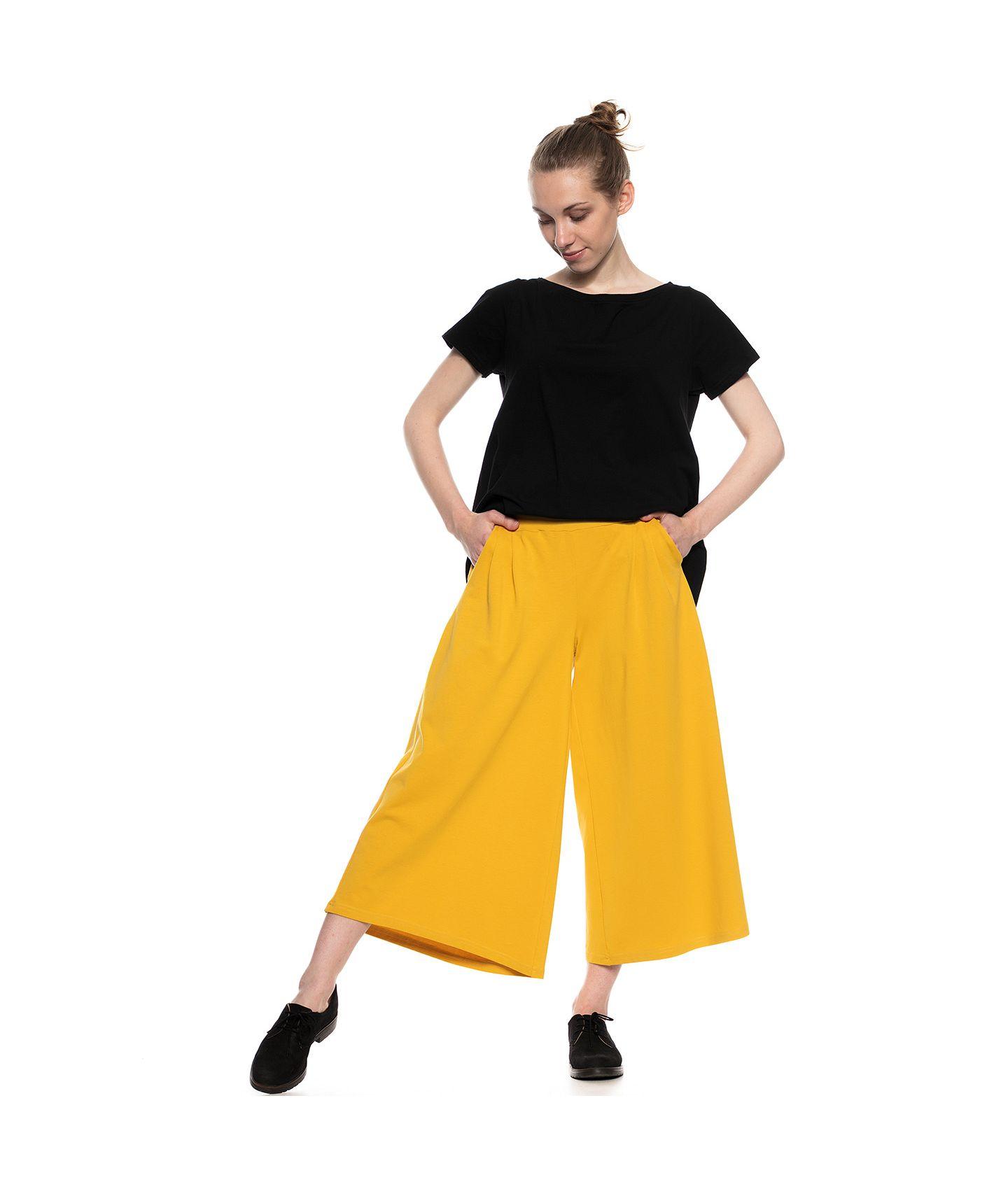 spodnie RIKA żółty