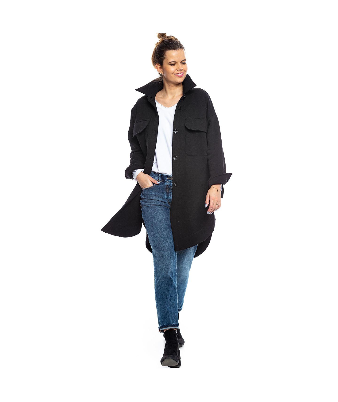 płaszcz/bluza koszulowa CITI czarny