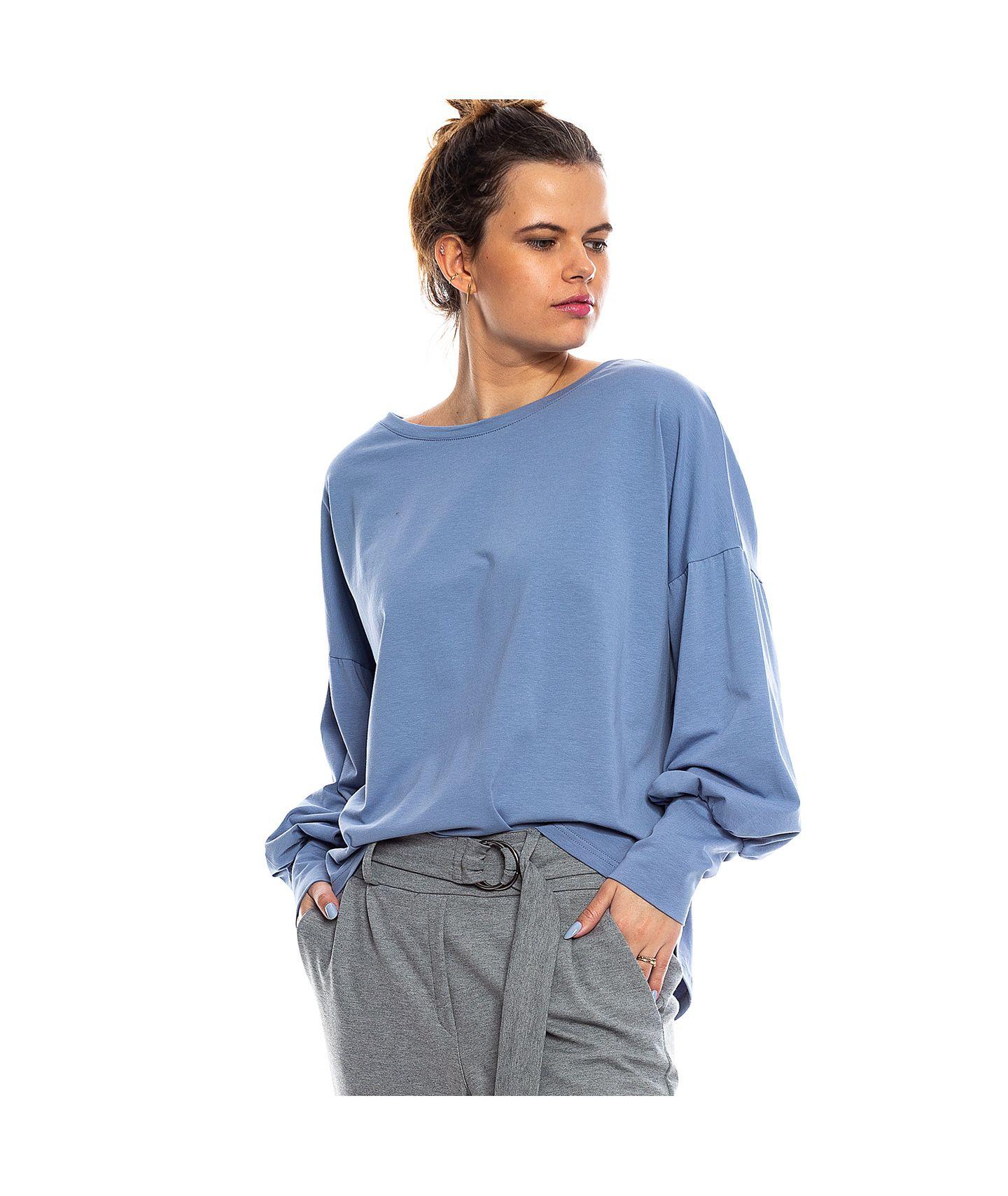 bluzka COCO pudrowy niebieski