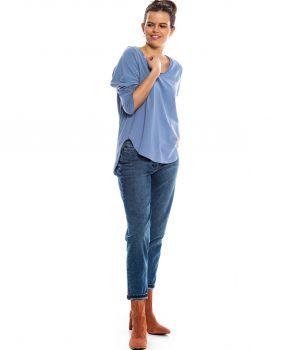 bluzka OLLA pudrowy niebieski