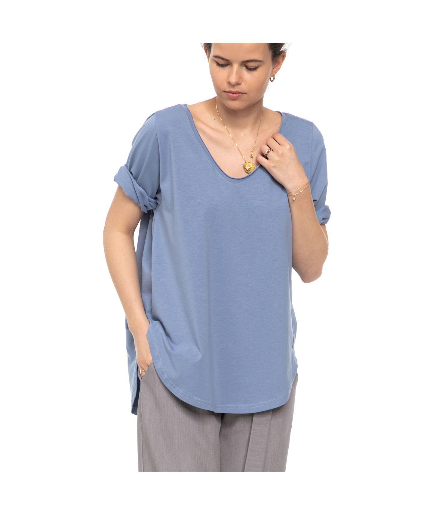 bluzka OYA pudrowy niebieski