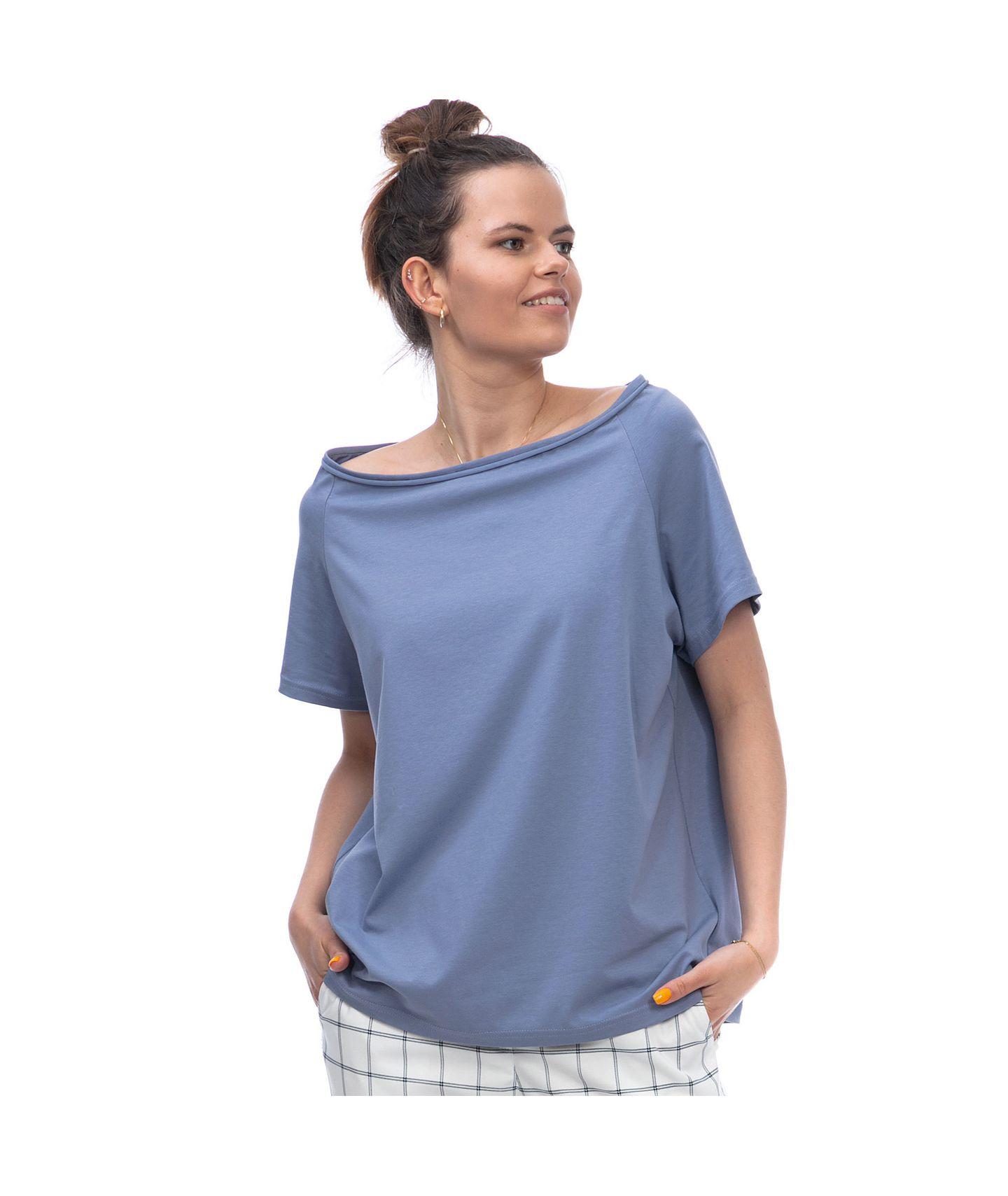bluzka ABBY pudrowy niebieski