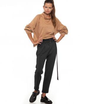spodnie z wysokim stanem LOCO czarny