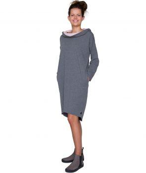 sukienka z kapturem LONG HOODIE