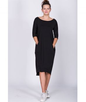 sukienka JASMINE DRESS BLACK, GREY
