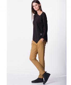 spodnie BASIC SOFT MUSTARD