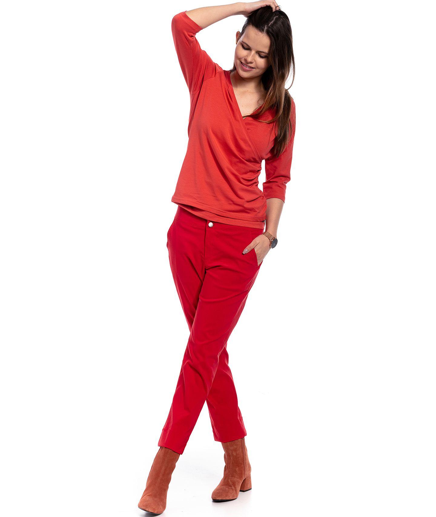 spodnie PANAMA pants red