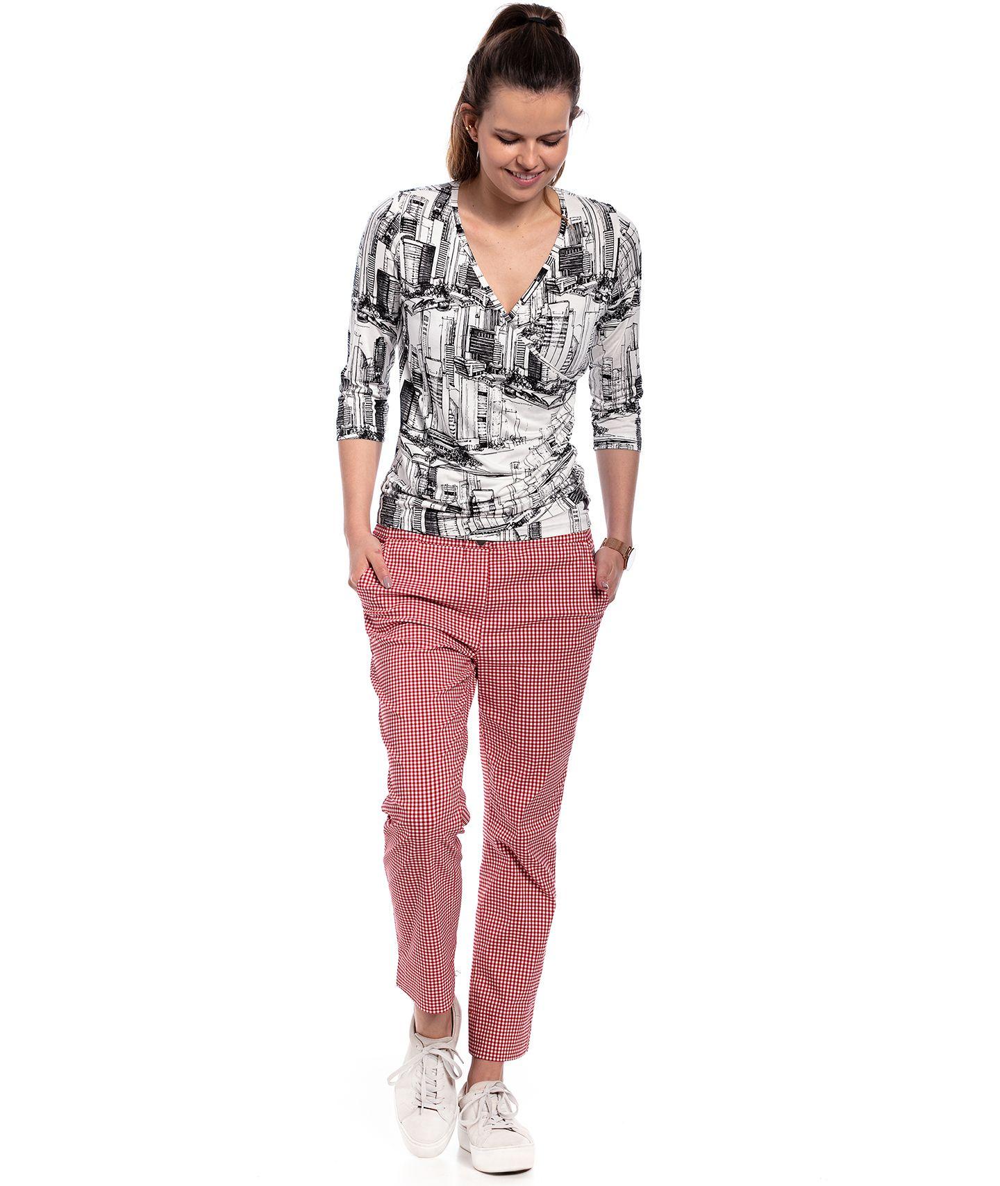 spodnie PANAMA check