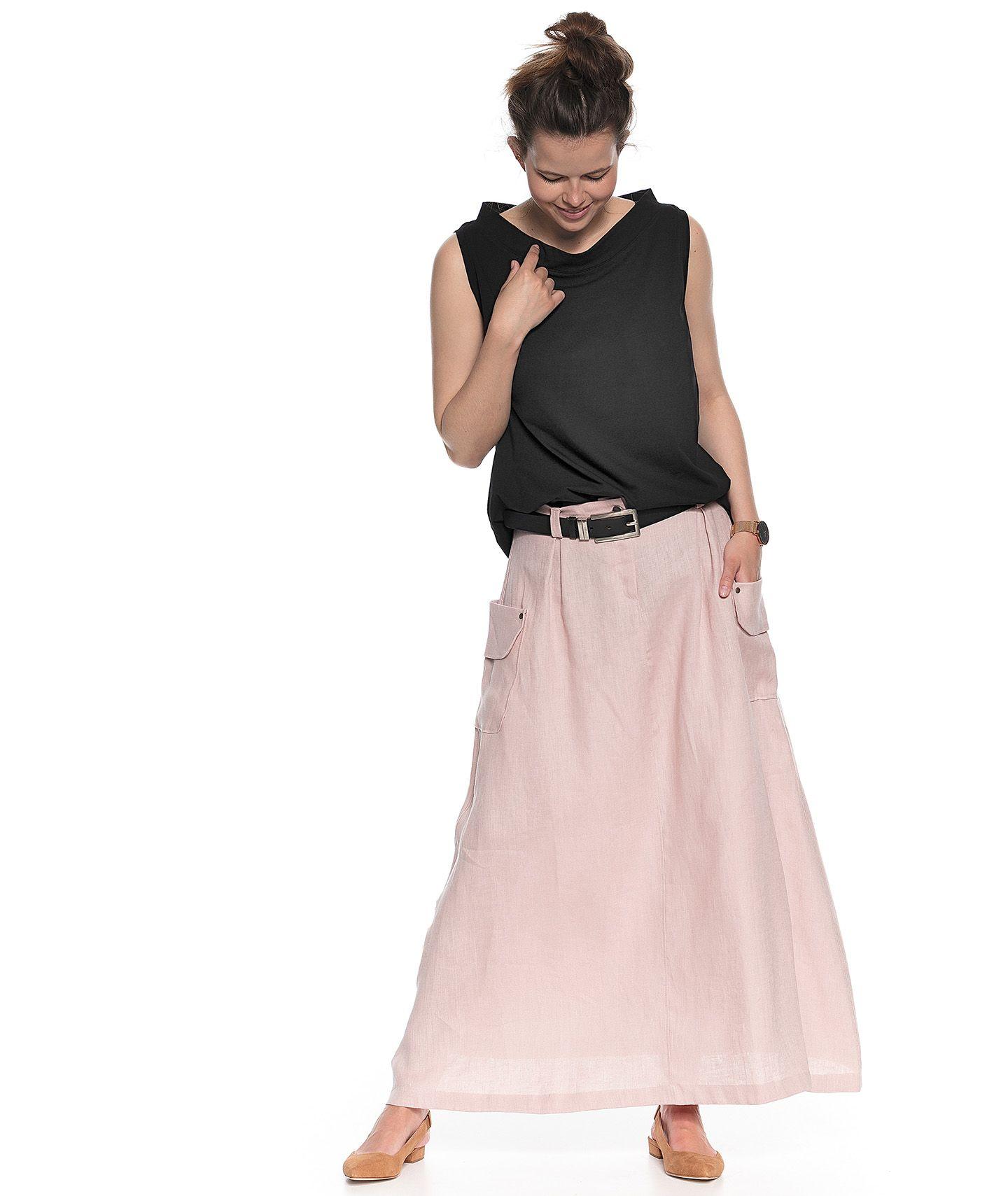 spódnica AVA  blady róż