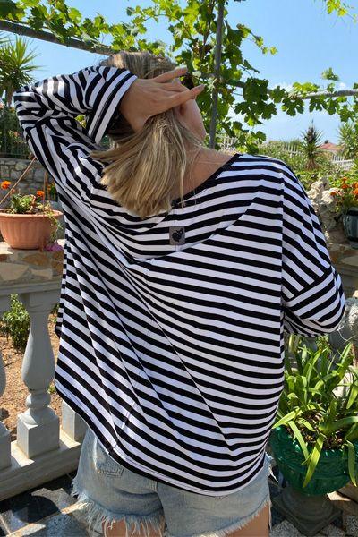 bluza oversize w paski